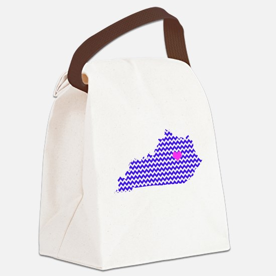 KY Chevron Lexington Canvas Lunch Bag
