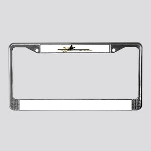 Rowing License Plate Frame