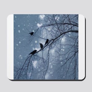 Hearts And Snow Mousepad