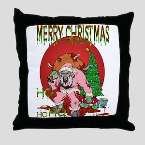 Ho Ho Horror Throw Pillow
