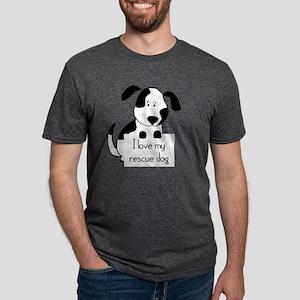 I love my rescue Dog Pet Hu Mens Tri-blend T-Shirt