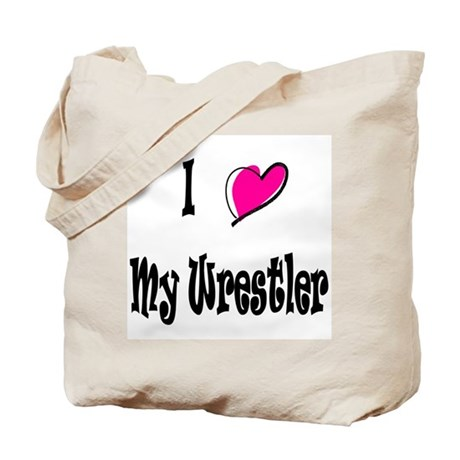 I Love My Wrestler Ravie Tote Bag