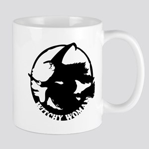 Witch Woman (black & white) Mug