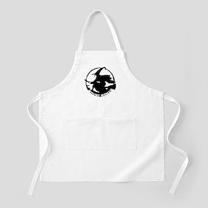 Witch Woman (black & white) BBQ Apron
