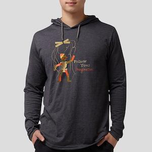 Follow Imagination Mens Hooded Shirt