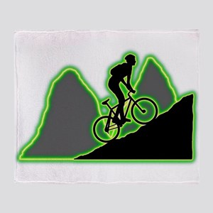 Mountain Biking Throw Blanket