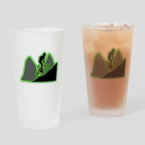 Mountain Biking Drinking Glass