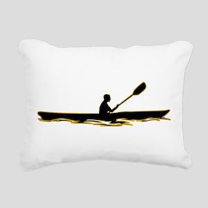 Kayaking Rectangular Canvas Pillow
