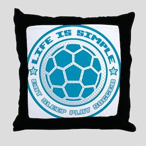 Eat, Sleep, Play Soccer Throw Pillow