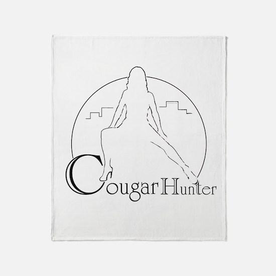 Cougar hunter Throw Blanket
