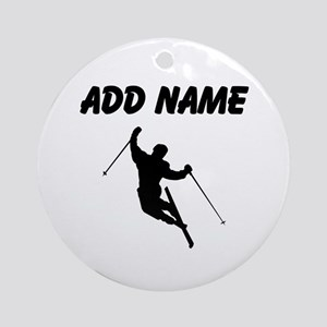 I LOVE SKIING Ornament (Round)