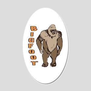 Bigfoot 1 20x12 Oval Wall Decal