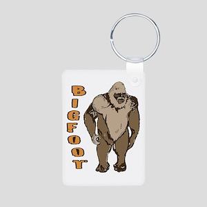 Bigfoot 1 Aluminum Photo Keychain