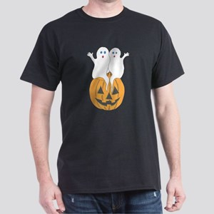 Pumpkin Ghosts Dark T-Shirt
