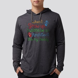 Architect Like Daddy Mens Hooded Shirt