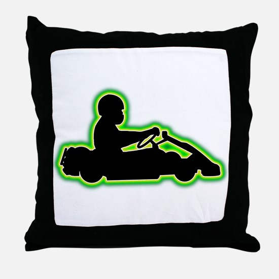 Go-Karting Throw Pillow