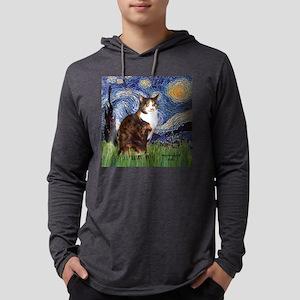 Calico cat Mens Hooded Shirt