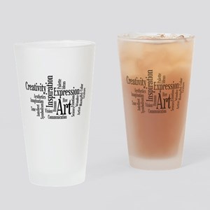 Art Word Cloud Drinking Glass