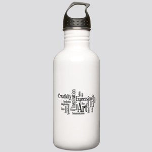 Art Word Cloud Stainless Water Bottle 1.0L