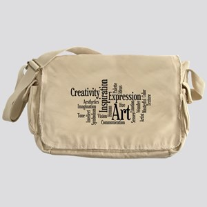 Art Word Cloud Messenger Bag