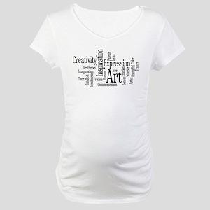 Art Word Cloud Maternity T-Shirt