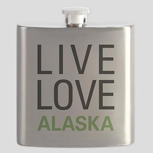 Live Love Alaska Flask