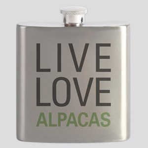 Live Love Alpacas Flask