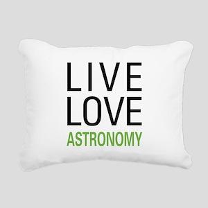Live Love Astronomy Rectangular Canvas Pillow