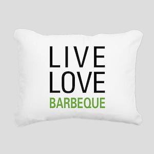 Live Love Barbeque Rectangular Canvas Pillow