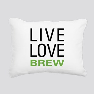 Live Love Brew Rectangular Canvas Pillow