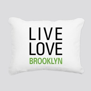 Live Love Brooklyn Rectangular Canvas Pillow