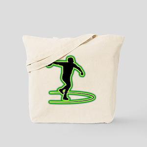 Discus Throwing Tote Bag