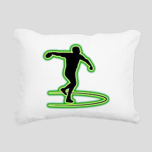 Discus Throwing Rectangular Canvas Pillow