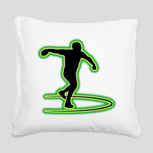 Discus Throwing Square Canvas Pillow