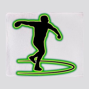 Discus Throwing Throw Blanket