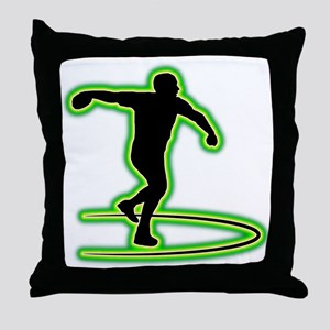 Discus Throwing Throw Pillow