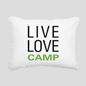 Live Love Camp Rectangular Canvas Pillow