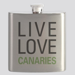 Live Love Canaries Flask
