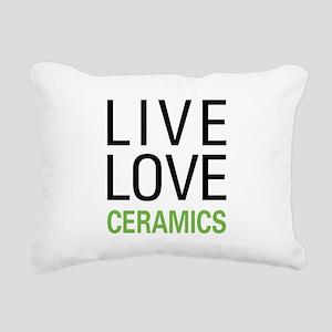 Live Love Ceramics Rectangular Canvas Pillow