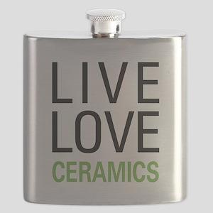 Live Love Ceramics Flask