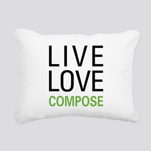 Live Love Compose Rectangular Canvas Pillow