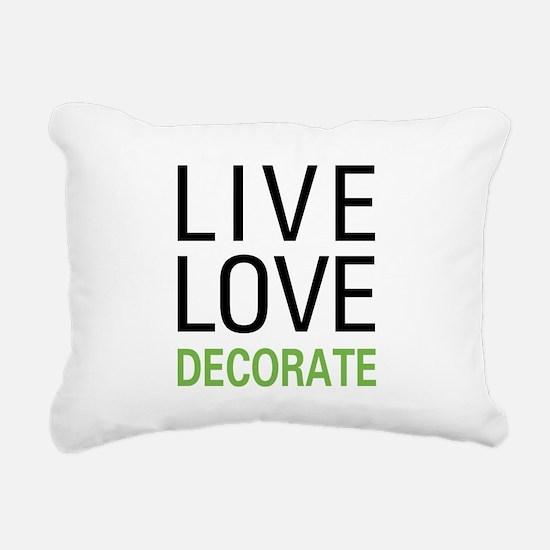 Live Love Decorate Rectangular Canvas Pillow