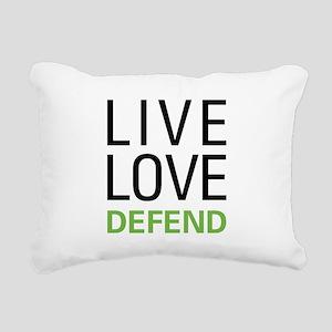 Live Love Defend Rectangular Canvas Pillow
