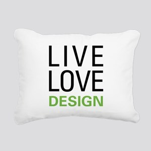 Live Love Design Rectangular Canvas Pillow