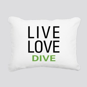 Live Love Dive Rectangular Canvas Pillow