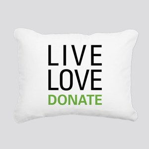 Live Love Donate Rectangular Canvas Pillow