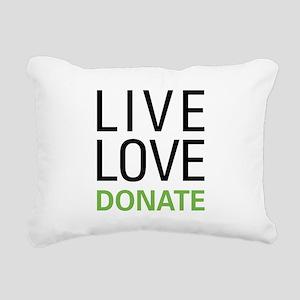 Live Love Donate Rectangular Canvas Pillow