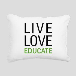 Live Love Educate Rectangular Canvas Pillow