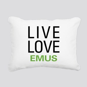 Live Love Emus Rectangular Canvas Pillow