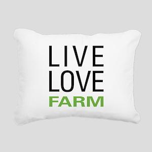 Live Love Farm Rectangular Canvas Pillow